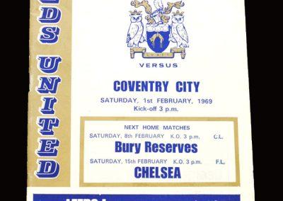 Leeds v Coventry 01.02.1969