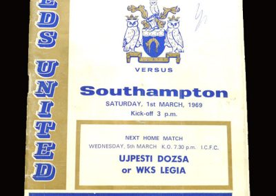 Leeds v Southampton 01.03.1969