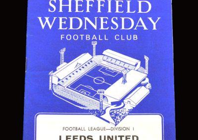 Leeds v Sheff Wed 01.04.1969