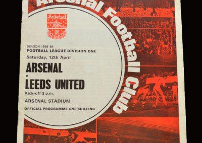 Leeds v Arsenal 12.04.1969