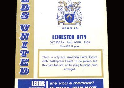 Leeds v Leicester 19.04.1969
