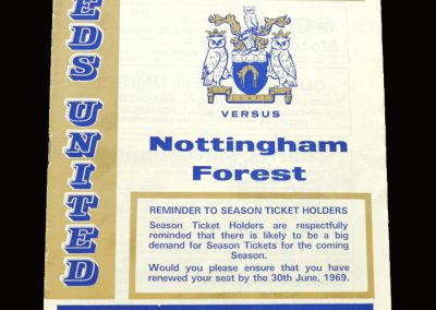 Leeds v Notts Forest 30.04.1969