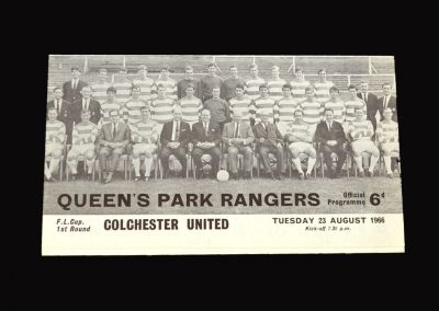 QPR v Colchester 23.08.1966 - League Cup 1st Round