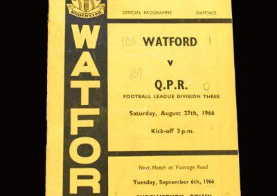 QPR v Watford 27.08.1966