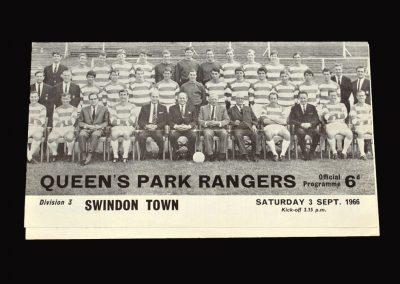QPR v Swindon 03.09.1966