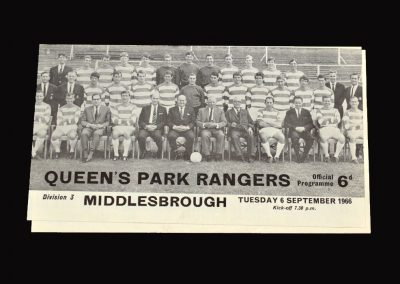 QPR v Middlesbrough 06.09.1966