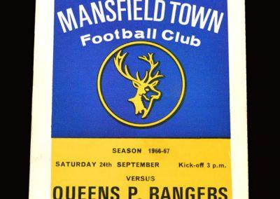 QPR v Mansfield 24.09.1966