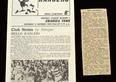 QPR v Swansea 08.10.1966