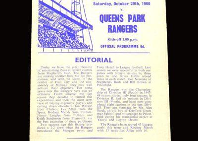 QPR v Gillingham 29.10.1966