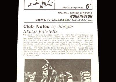 QPR v Workington 05.11.1966