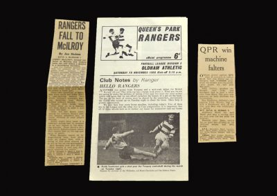 QPR v Oldham 19.11.1966