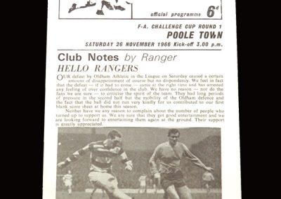 QPR v Poole Town 26.11.1966 - FA Cup 1st Round