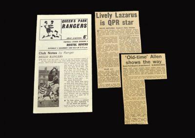 QPR v Bristol Rovers 03.12.1966