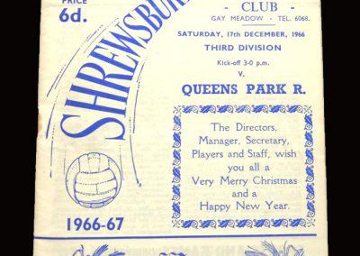 QPR v Shrewsbury 17.12.1966