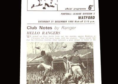 QPR v Watford 31.12.1966