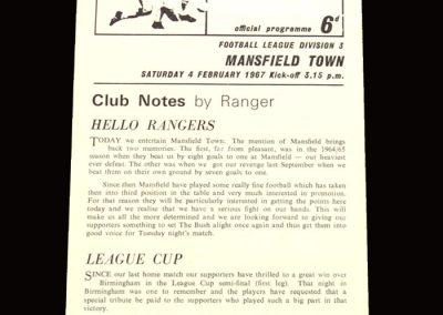 QPR v Mansfield 04.02.1967