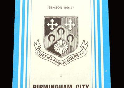 QPR v Birmingham 07.02.1967 - League Cup Semi Final 2nd Leg