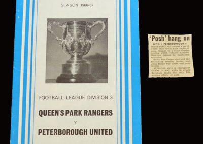 QPR v Peterborough 11.03.1967