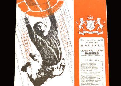 QPR v Walsall 11.04.1967