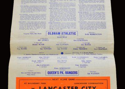 QPR v Oldham 15.04.1967