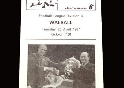 QPR v Walsall 25.04.1967
