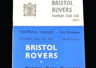 QPR v Bristol Rovers 29.04.1967