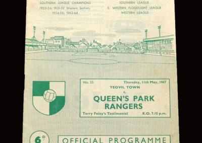 QPR v Yeovil 11.05.1967 - Terry Foley Testimonial