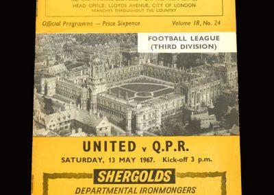 QPR v Oxford United 13.05.1967