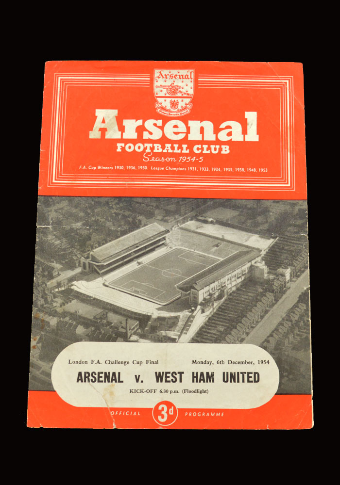 West Ham v Arsenal 06.12.1954 - London Challenge Cup Final