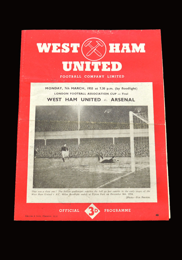 West Ham v Arsenal 07.03.1955 - London FA Cup Final