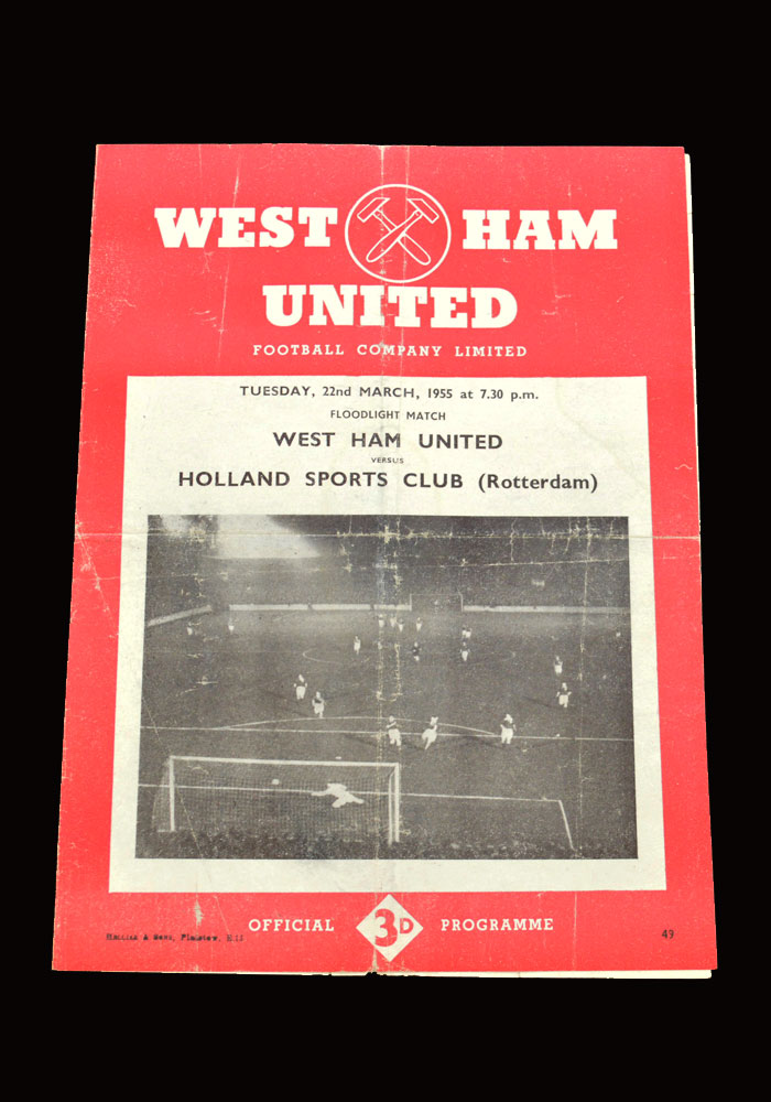 West Ham v Holland Sports Club 22.03.1955 (friendly)