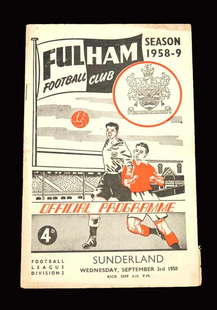 Sunderland v Fulham 03.09.1958