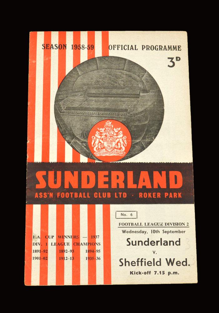 Sunderland v Sheff Wed 10.09.1958