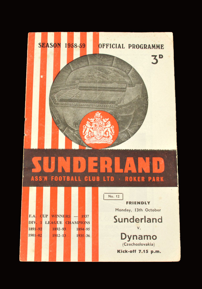Sunderland v Dynamo Prague 13.10.1958