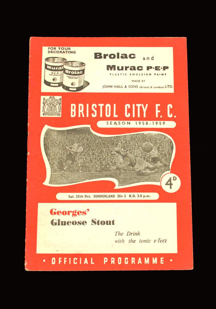 Sunderland v Bristol City 25.10.1958