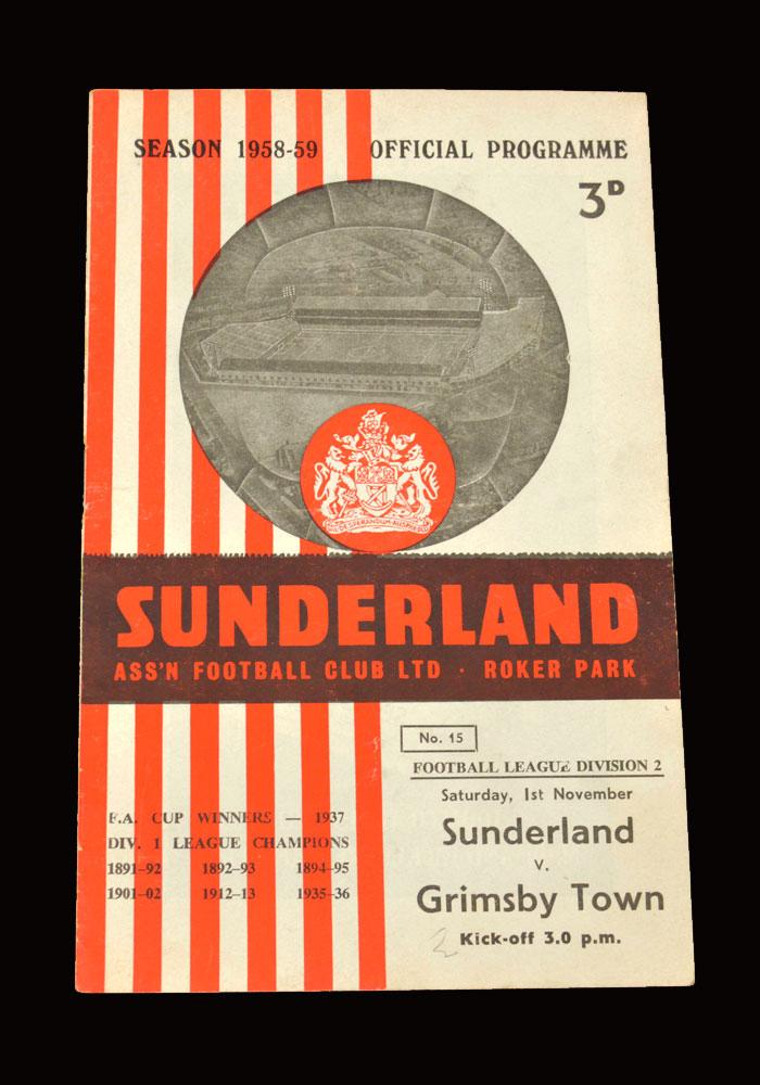 Sunderland v Grimsby 01.11.1958