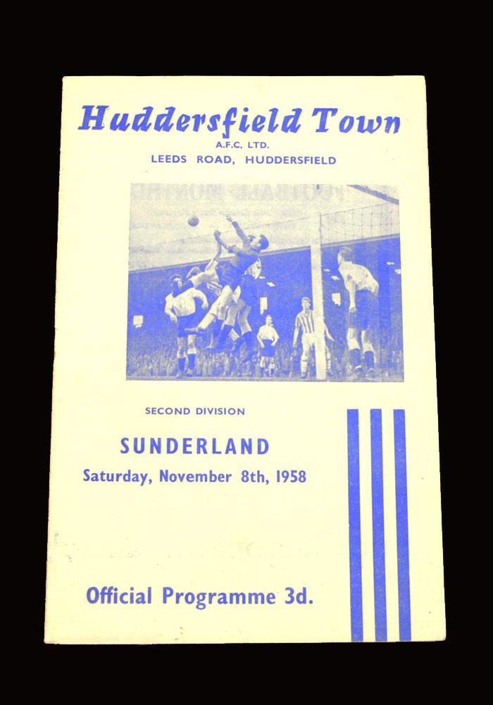 Sunderland v Huddersfield 08.11.1958