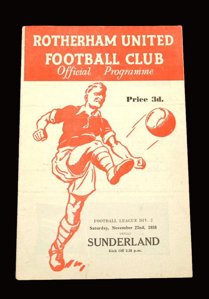 Sunderland v Rotherham 22.11.1958