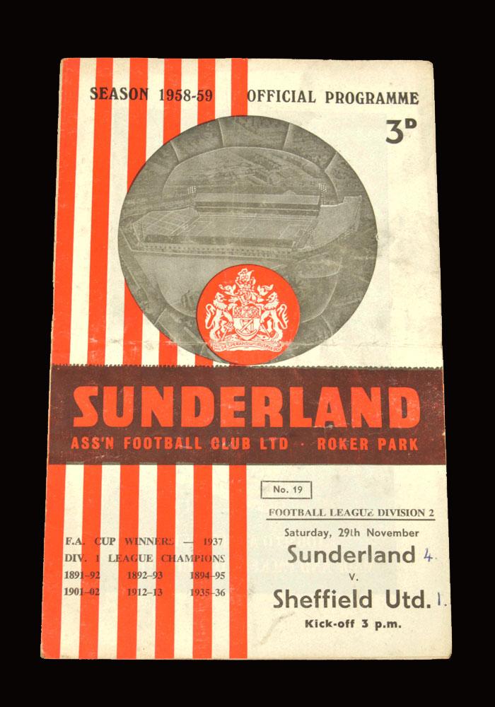 Sunderland v Sheff Utd 29.11.1958