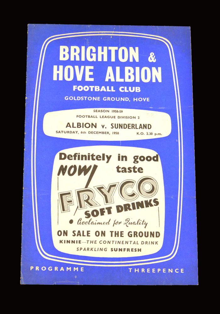 Sunderland v Brighton 06.12.1958