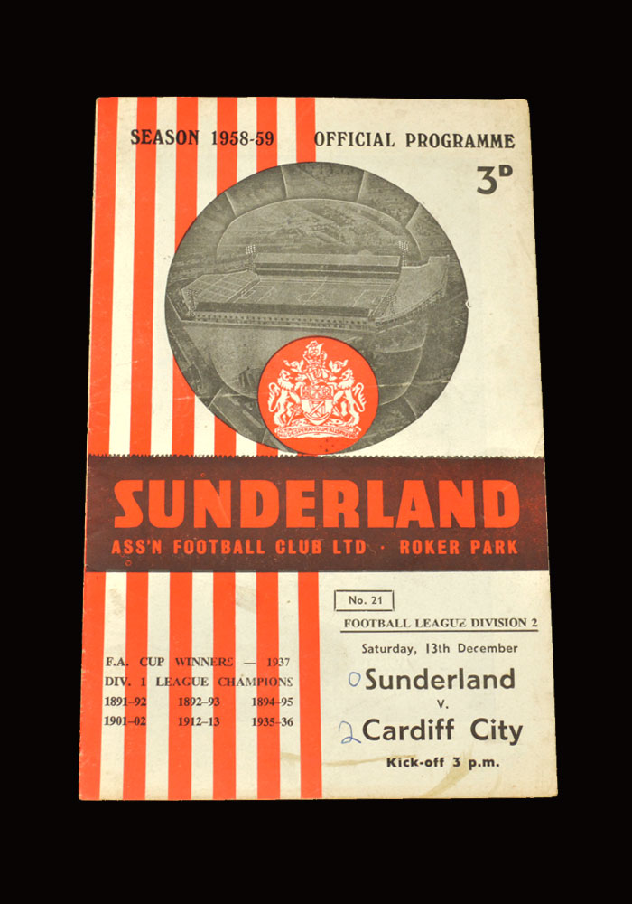Sunderland v Cardiff 13.12.1958