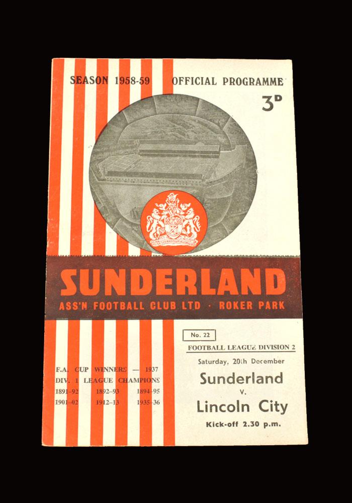 Sunderland v Lincoln 20.12.1958