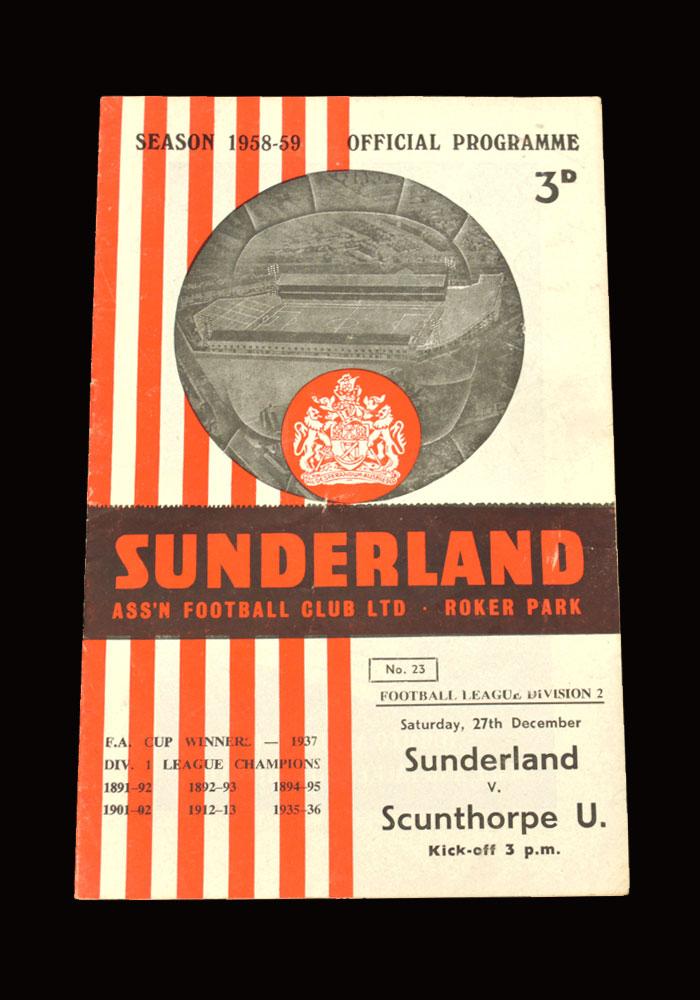 Sunderland v Scunthorpe 27.12.1958