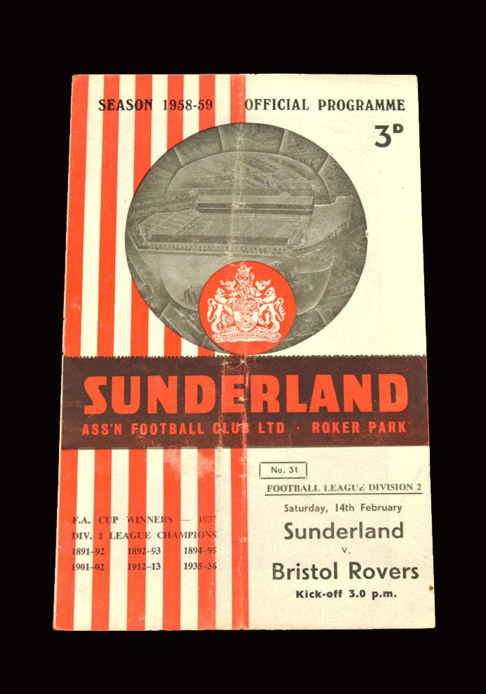 Sunderland v Bristol Rovers 14.02.1959
