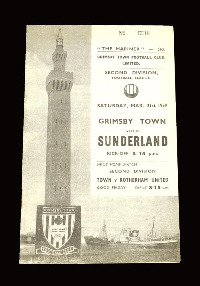 Sunderland v Grimsby 21.03.1959