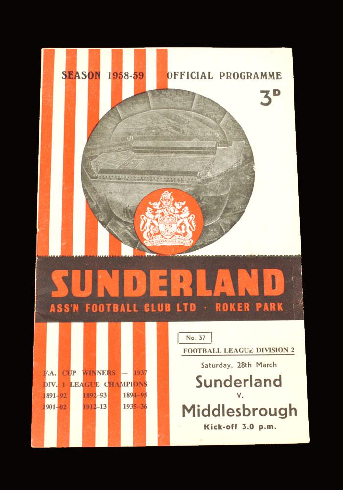 Sunderland v Middlesbrough 28.03.1959