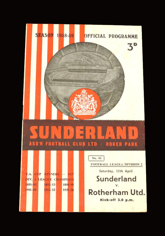 Sunderland v Rotherham 11.04.1959