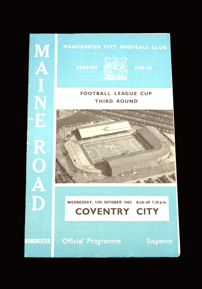 Man City v Coventry 13.10.1965 - League Cup 3rd Round