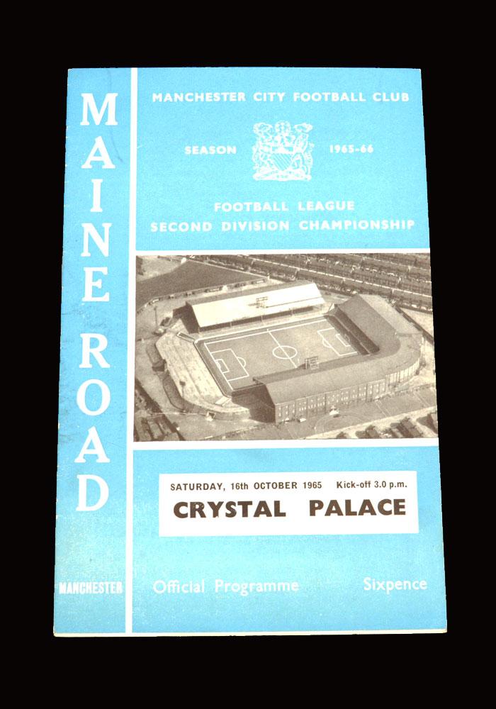 Man City v Crystal Palace 16.10.1965