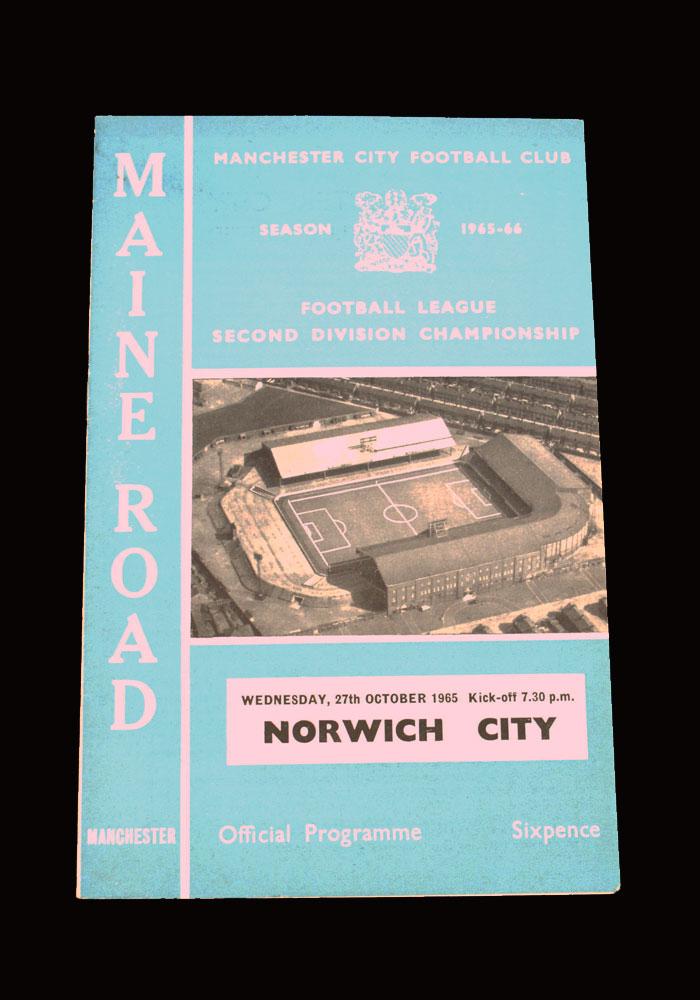 Man City v Norwich 27.10.1965